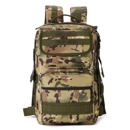 25L Outdoor Hiking Camping Bag Military Tactical Trekking Rucksack Backpack Camo