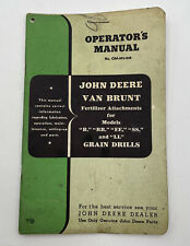 John Deere Operators Manual Van Brunt Fertilizer Attachments For Grain Drills