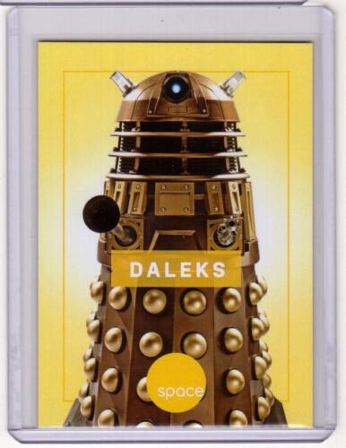 DALEKS Kaled Davros Doctor Who SpaceDeck Space Channel Promo Card RARE SP