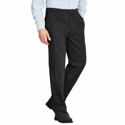 MENS RUGBY TROUSERS FULL ELASTICATED WAIST OFFICE WORK SMART BIG PLUS SIZE PANTS