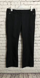 Ladies-Adidas-Climalite-Black-Golf-Trousers-Size-12-L31-034-Pinstripe-Sporty