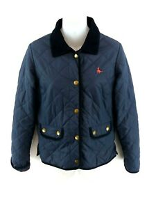 JACK-WILLS-Womens-Jacket-Coat-8-Navy-Blue-Nylon-Quilted-Puffer