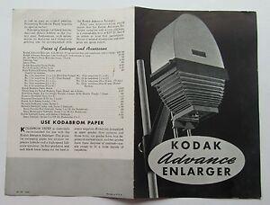 Brochure For The Kodak Advance Enlarger 1940
