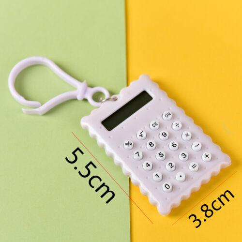 Gehäuse 8 Ziffern Elektronischer Mini Taschenrechner Schlüsselanhänger ZP