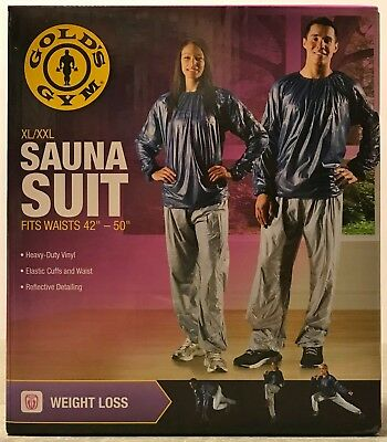 Gold's Gym Adult Sauna Vinyl Suit XL/XXL Waist Sizes 42 ...