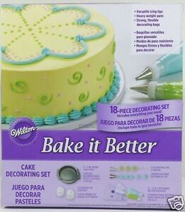 Wilton-Cake-Decorating-Set-18pc-Bake-it-Better-2-Pans-Icing-Bags-with-Tips-New