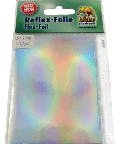 3D Reflex Folie Behr Reflex-Folie in 8 Farben 2 Streifen Größe 7,5 x 10 cm