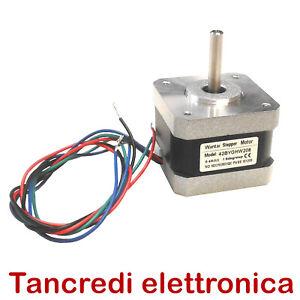 Motore-passo-passo-NEMA17-12V-0-4A-reprap-CNC-3d-printer-34mm-NEMA-17-42BYGHW208