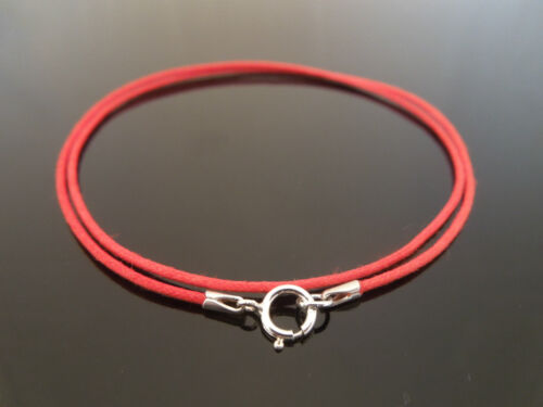"""1mm Red Waxed Cord /& 925 Sterling Silver Necklace 14/"""" 16/"""" 18/"""" 20/"""" 22/"""" 24/"""" 26/"""""""