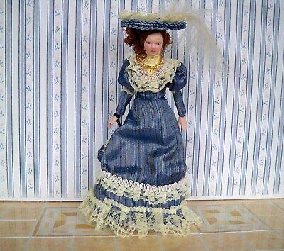 Puppenhaus Unbekleidete Frau Dame Porzellan Puppe Mit Brötchen Miniatur Menschen