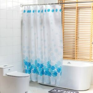EVA Floral Bathroom Shower Curtain Thicken Translucence Curtain Waterproof Fairy