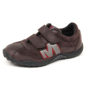new product 14bd9 fb2d5 Details about E0484 sneaker bimbo brown MERRELL scarpe strappo shoe kid boy