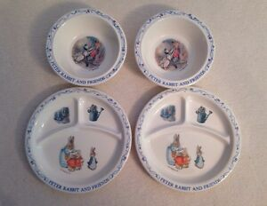 Two Children S Eden Peter Rabbit Beatrix Potter Plates