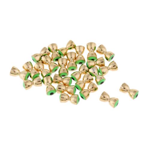 25pcs//Lot Brass Fly Tying Beads Dumbbell Eyes Fishing Ball Beads 5 Sizes