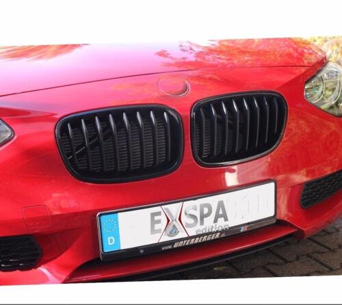 Nieren Kühlergrill SCHWARZ SHADOW HOCHGLANZ FÜR BMW 1er  F20 ab 2011-ca.03//2015