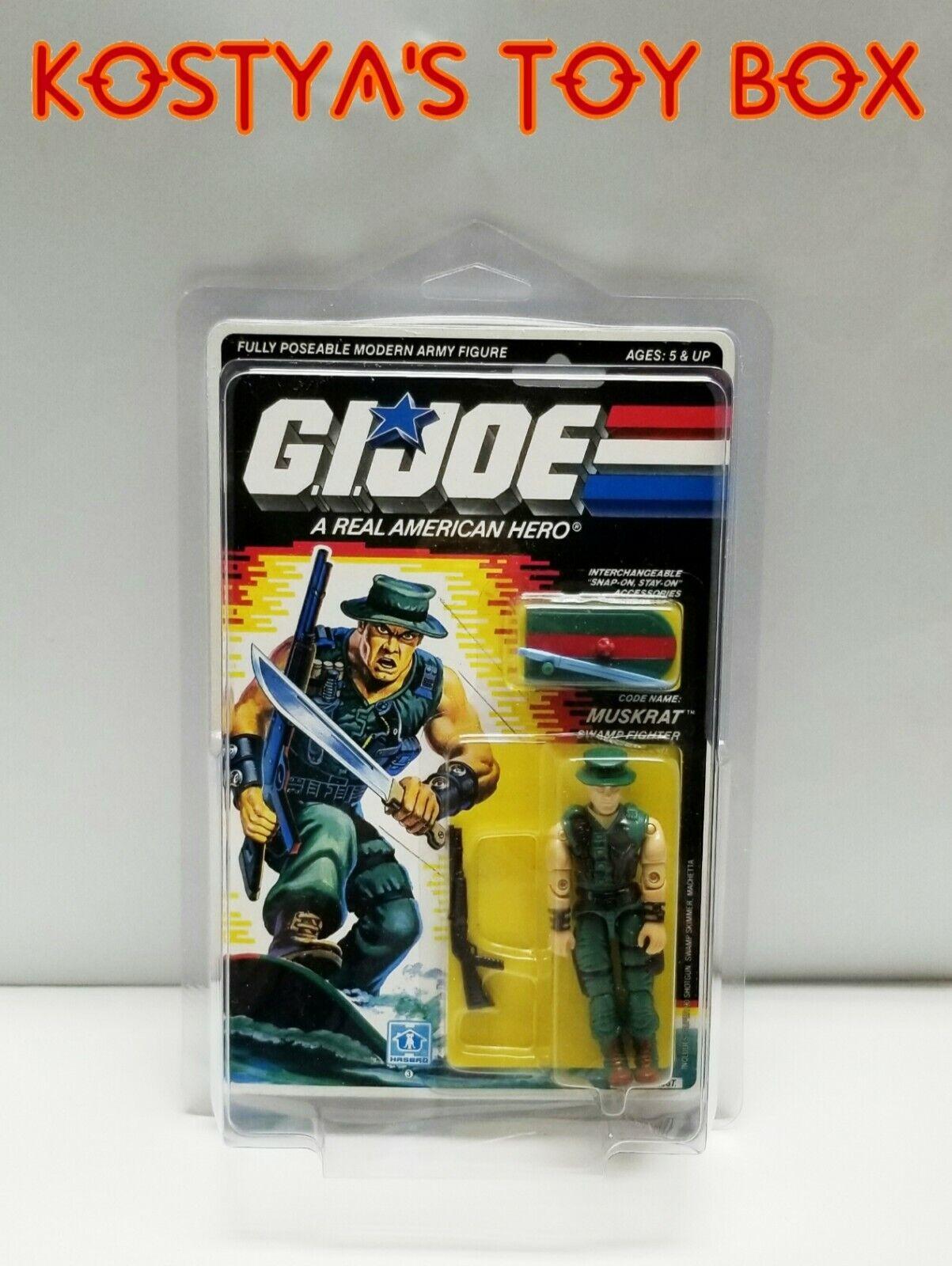 GI Joe MUSKRAT 1988 MOC MOSC Hasbro Vintage Factory Sealed Action Figure