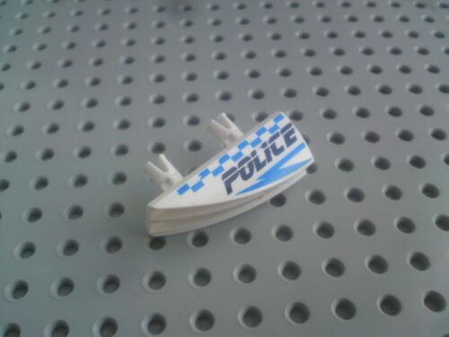 White x1 pair /'Police/' Check Print 30647px1//2 Lego Panel 2x4 Fairing Pegs