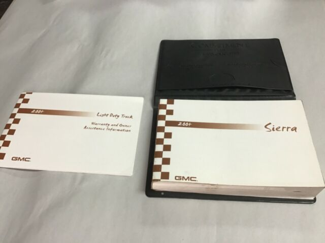 2004 Gmc Sierra Owners Manual With Case