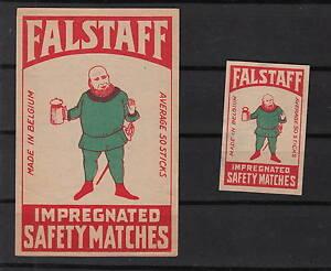 Ancienne étiquette allumettes Belgique A806 Falstaff 2 N42PmBZi-09154707-924371971