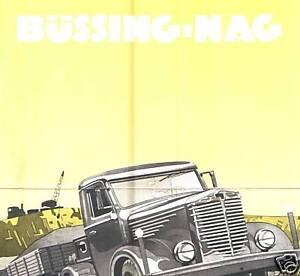 Bussing Nag Prospekt Eilschlepper Braunschweig Lkw Oldtimer