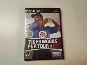 Tiger-Woods-PGA-Tour-2007-PS2-Video-Game-Case-Disc-Play-Station-EA-Sports