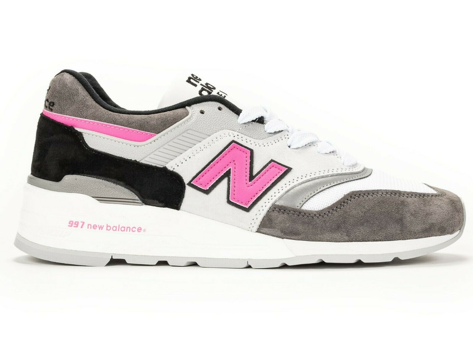 Men's NEW BALANCE 997 MADE IN USA GREY BLACK PINK NEW