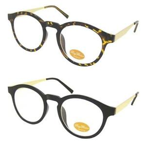 1597147204 Image is loading VTG-Clear-Lens-50s-Glasses-Black-Tortoiseshell-Preppy-