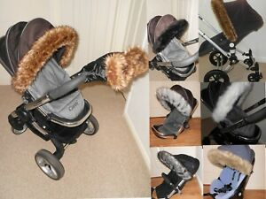 Hood-fur-trim-for-pushchair-pram-universal-fit-Silver-Cross-fit-all-models