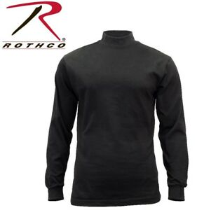 46e241b6 Image is loading Rothco-Security-amp-Police-Black-Cotton-Long-Sleeve-