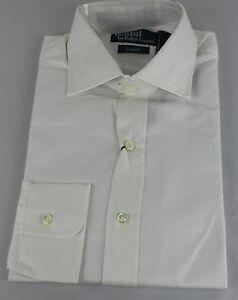 Polo-Ralph-Lauren-Dress-Shirt-Mens-15-5-39-Custom-Fit-White-Navy-Pony