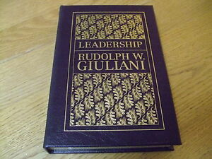 RUDOLPH-W-GIULIANI-SIGNED-HB-F-2002-1ST-LIMITED-ED-LEATHER-MIRAMAX-VERY-RARE