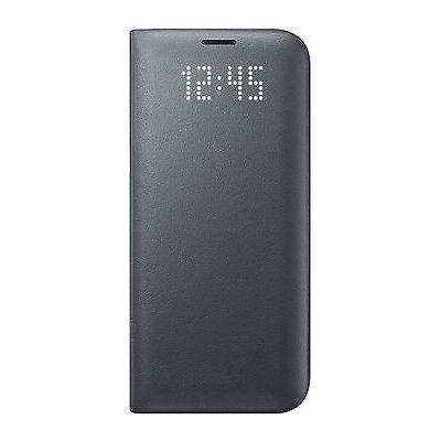 Official Samsung Galaxy S7 Edge Black LED Flip Wallet / Case - EF-NG935PBEGWW