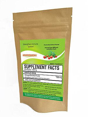 Ashwagandha Extract Powder 20% Withanolides Withania Anti-stress Highest Potency