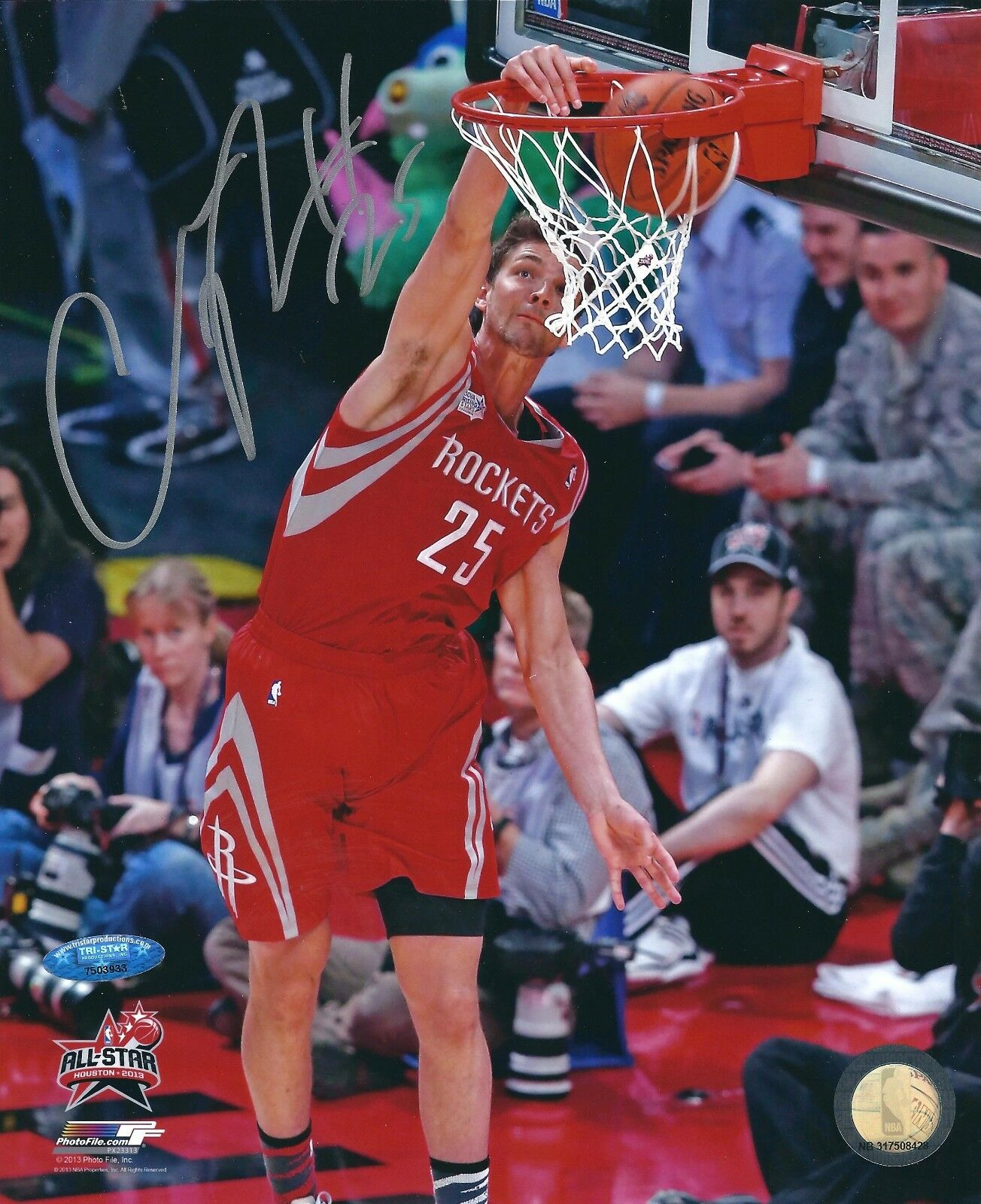 Chandler Parsons Signed Houston Rockets Basketball 8x10 Photo Tri-Star 7503933