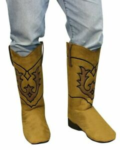 Cowboy Boot Tops Brown Boot Covers Old Time Western Costume Accessory