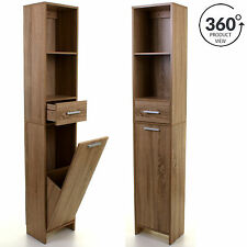 Item 1 Wooden Tall Boy Cabinet Storage Unit Shelving Shelves Cupboard Bathroom