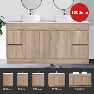 Bathroom Vanity Cabinet 600 750 900 1200 1500 1800 Mm Free Standing Timber Logan Ebay