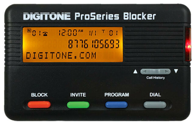 Digitone ProSeries Call Blocker - Back Lighted Display, 1,000 Blocked Numbers