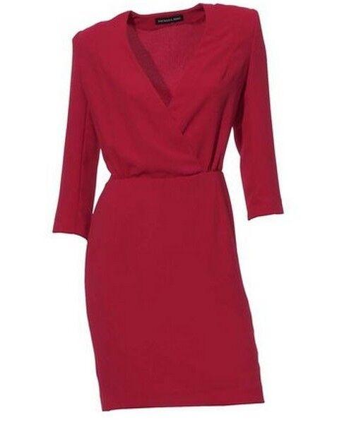 Robe d'été corail rouge Heine 36 PATRIZIA DINI taille 34 36 Heine 38 40 46 nouvelles e2348b