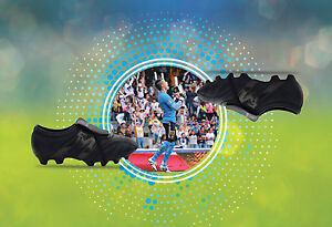 c5d1a819b9a Image is loading Manriquez-Soccer-Cleats-Authentic-Leather-Total-Black-MID-