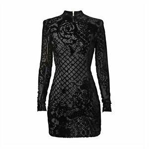 a636932d BALMAIN H&M Silk Blend Velvet Mini Dress Size EU 36/ US 6/ UK 10   eBay