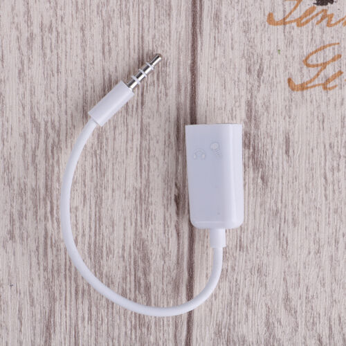 3.5mm mic audio jack to headphone microphone y splitter cable converter  ML