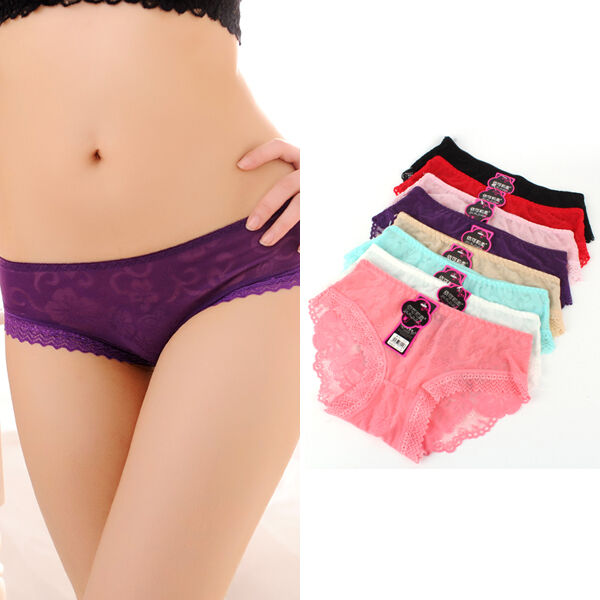 Women's Briefs Sexy Panties Underwear Transparent Lace Comfort Knickers Thongs