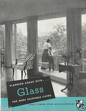 1950 LIBBEY OWENS FORD Glass LOF Home Plan Ideas Kitchen Design 30pg VTG Catalog