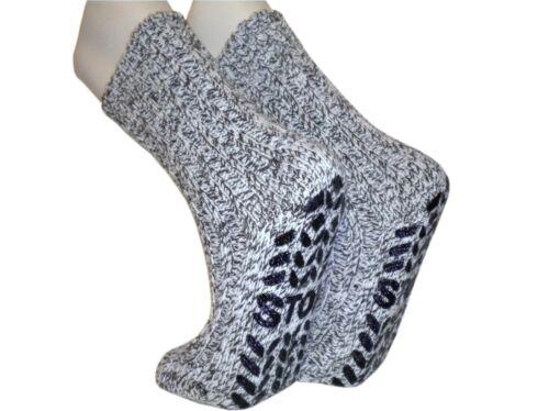 2 oder 4 Paar Stopper Socken  ABS Homesocks Norweger Grobstrick  Antirutsch