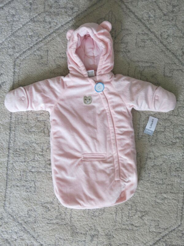 Zebra Hooded Snowsuit Bunting Bag 0-6 Months