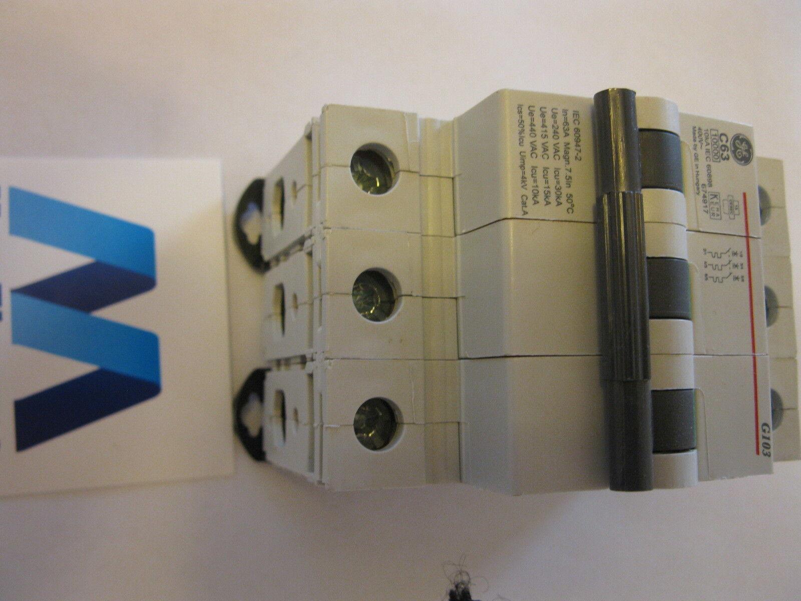 GENERAL ELECTRIC 10 AMP TYPE C 6 kA MCB CIRCUIT BREAKER SERIES ER 676755