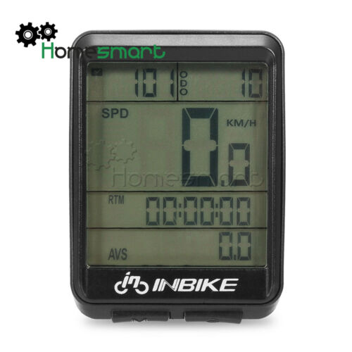 LCD Wired Wireless Cycling Waterproof Computer Bicycle Speedometer Odometer AHS
