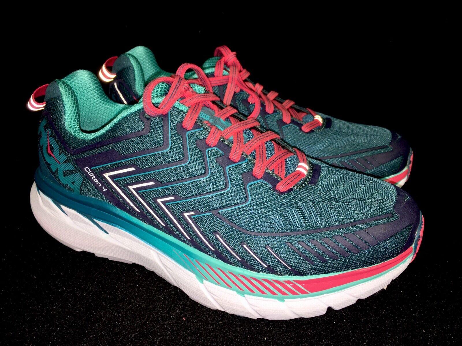Hoka One One Clifton 4 blu Coral Ceramic Running Tennis scarpe 1016724 Dimensiones