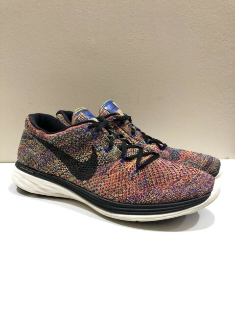 new style 7ab3b ee46d Nike Flyknit Lunar 3 Multicolor 698181 408 Men's Size 12